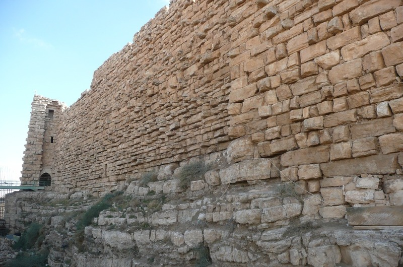 The walls of the castle
