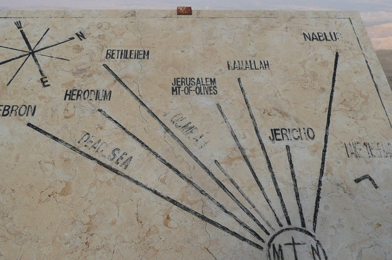 Map of views from Mt. Nebo