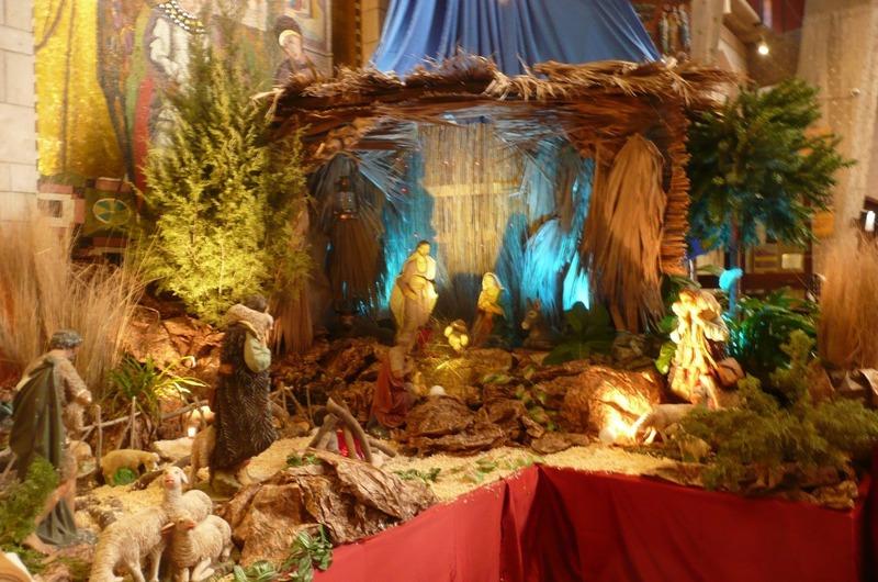Nativity scene in the church