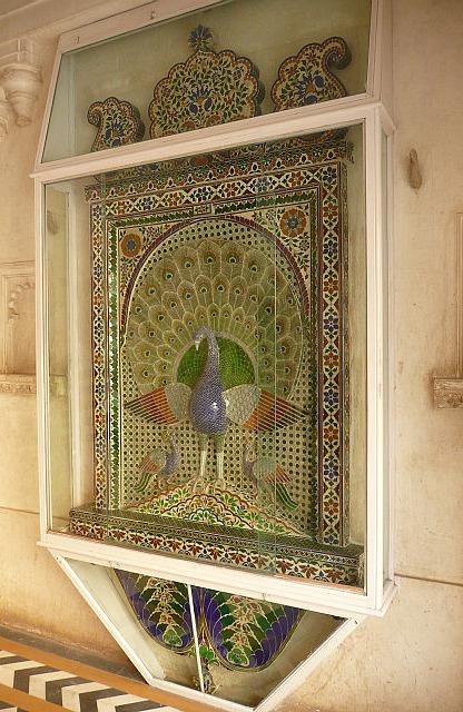 A peacock mosaic
