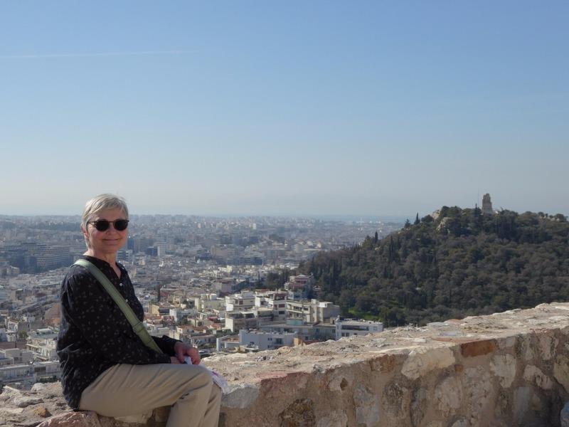 Posing at the Acropolis