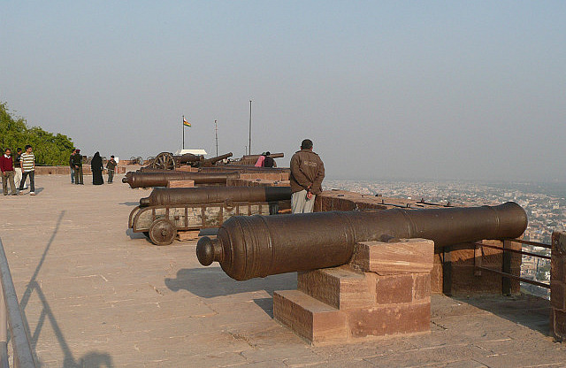 The cannons on the ramparts