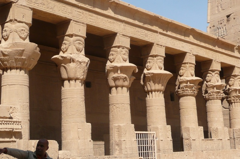 Another view of the columns