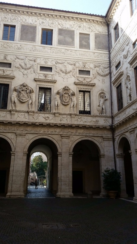 Entrance to Palazzo Spada