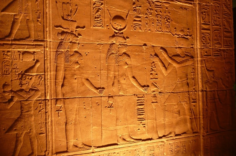 Some of the bas reliefs