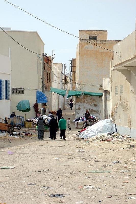 Exit Kairouan Proper - Walk to Louage Stop