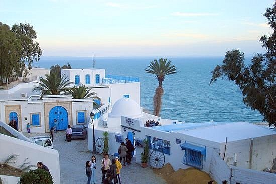 Sidi Bou Said Famous Cafe (In a song)