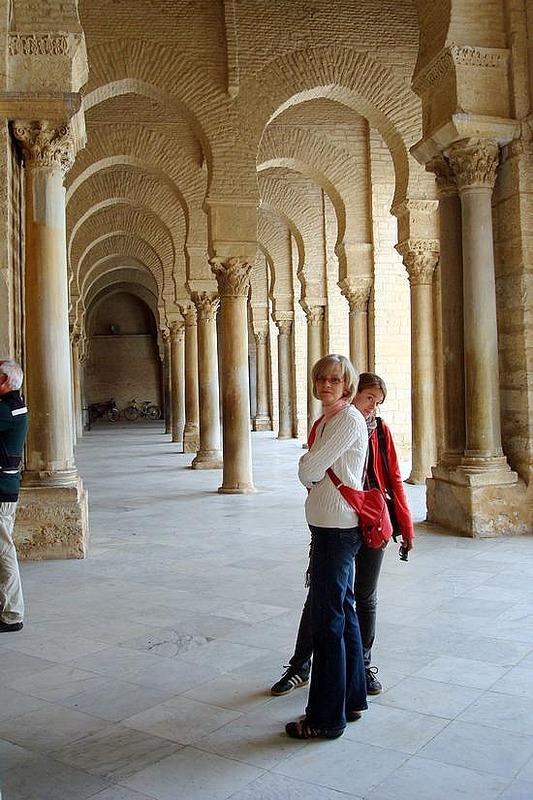 Mosque Corridor Arches