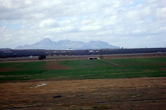 Interstate Highway and Mountains