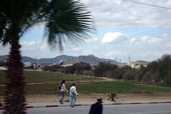 Minaret and Mountains
