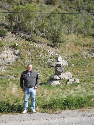 Inukshuk nr. Kleena Kleen, along Hwy. 20
