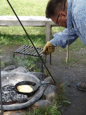 Making bannock