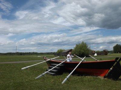 Denis in York boat