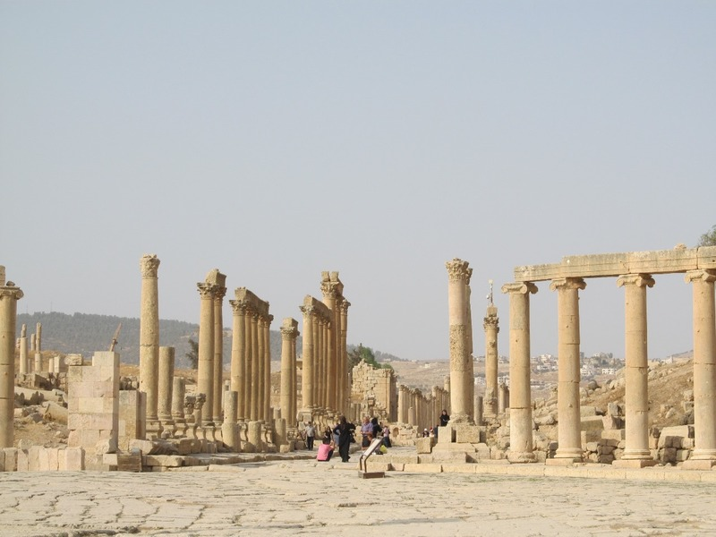 View from the Central Oval down the Cardo Maximus