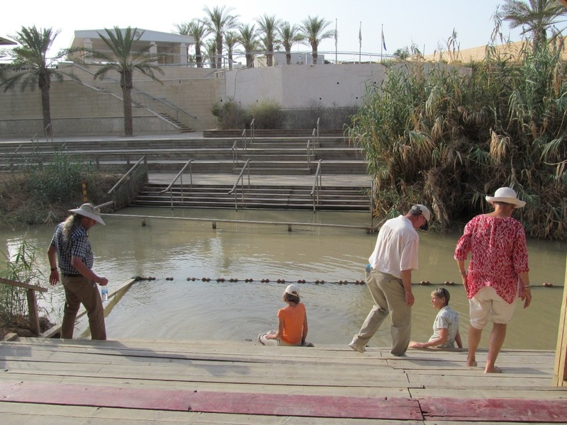 Jordan River near the baptism site