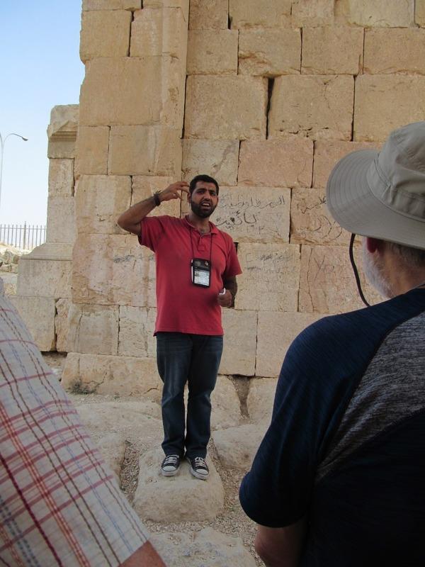 Ala'a explains the site