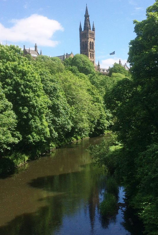 Kelvin River & Glasgow University