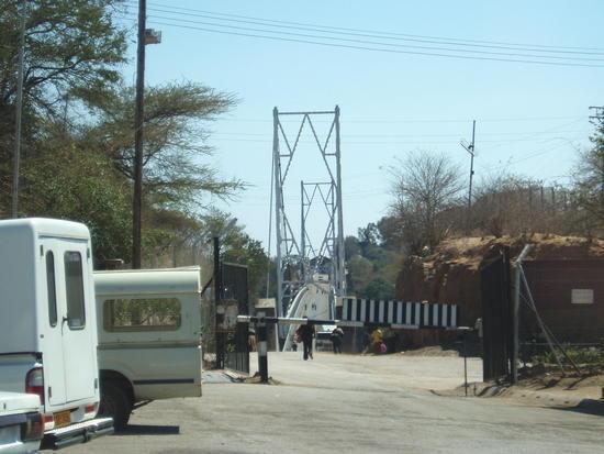 Crossing into Zambia