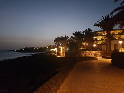 Evening stroll along the coast