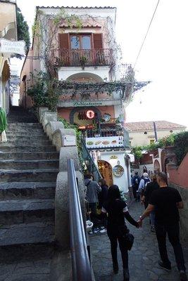 Steep staircases of Positano