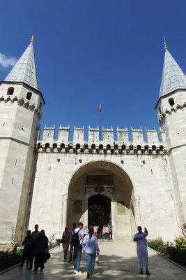Entering the Topkapı Palace