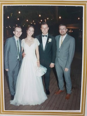 Photo with the happy couple