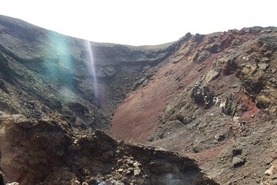Looking inside a crater