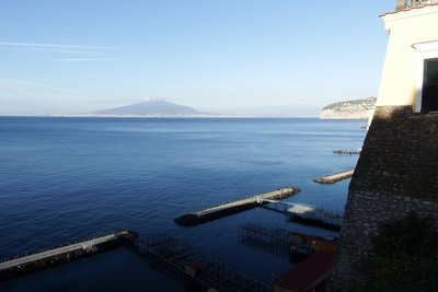Views of Vesuvius across the bay