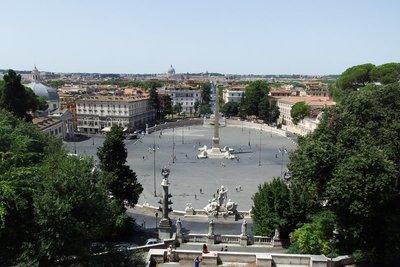 Overlooking Piazza del Popolo
