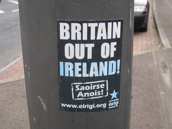 Sign on the Falls Road