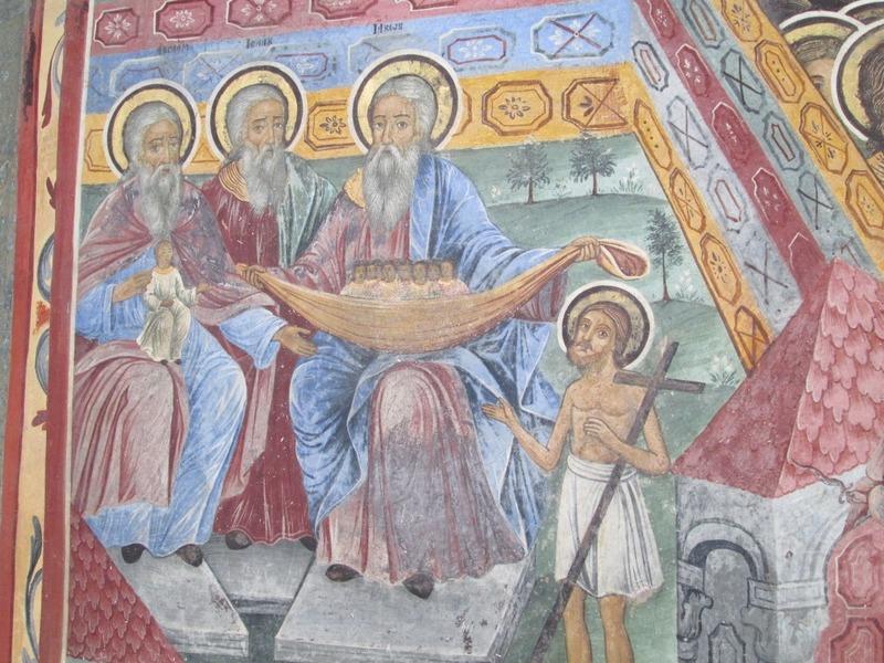 Tiny Jesus introduces Abraham, Isaac and Jacob