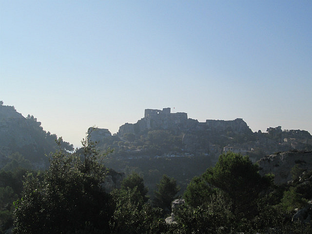 Les Baux from a distance