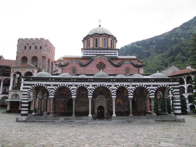 The church at the Rila Monastery