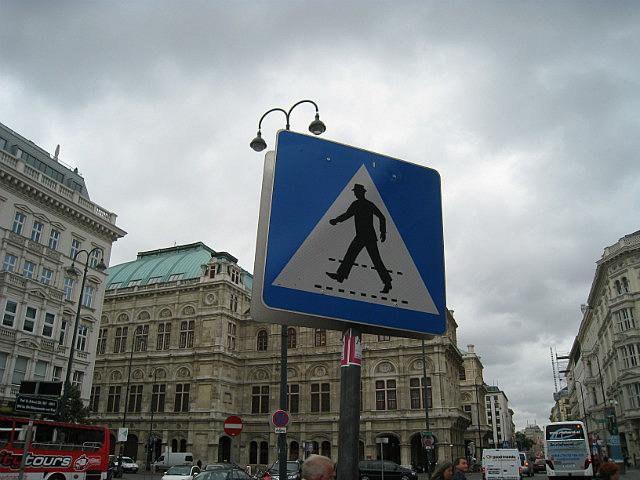 Caution: 1950s Man Crossing