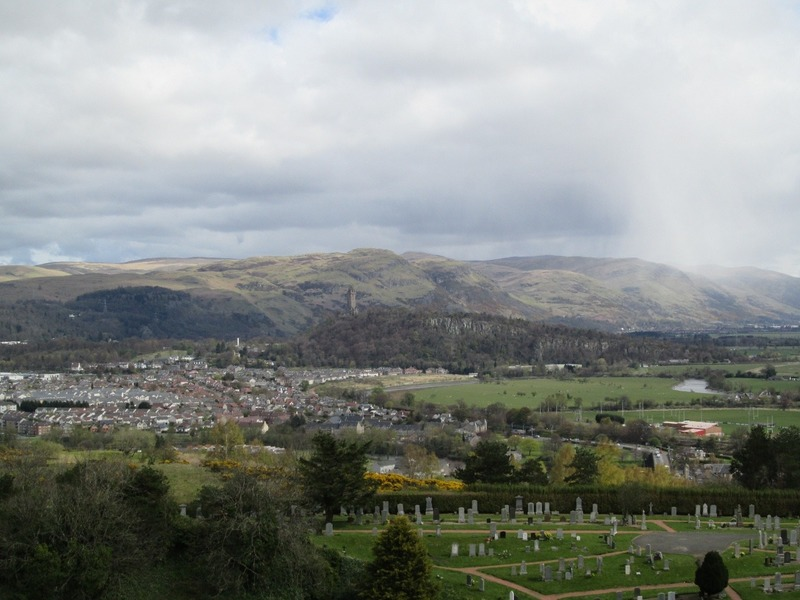 View from the ramparts of Stirling Castle
