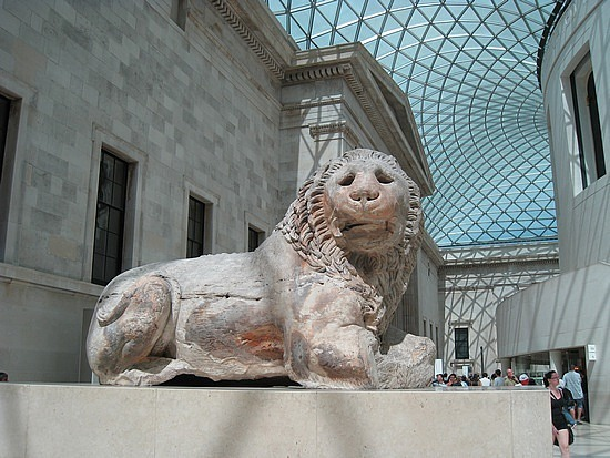 The Lion of Knidos in the Great Court