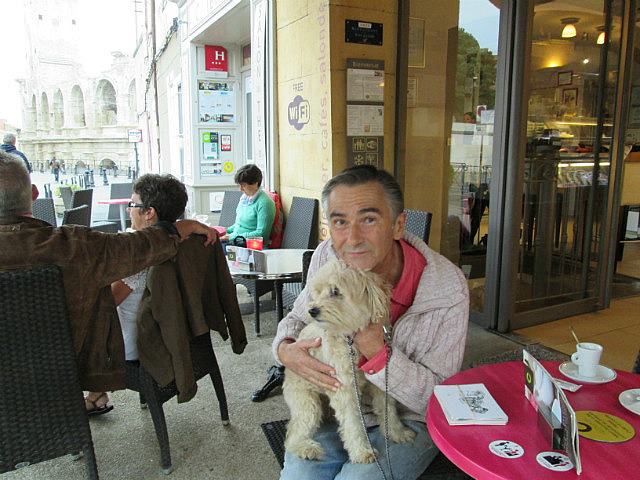 Monsieur Marin Patrick and his dog