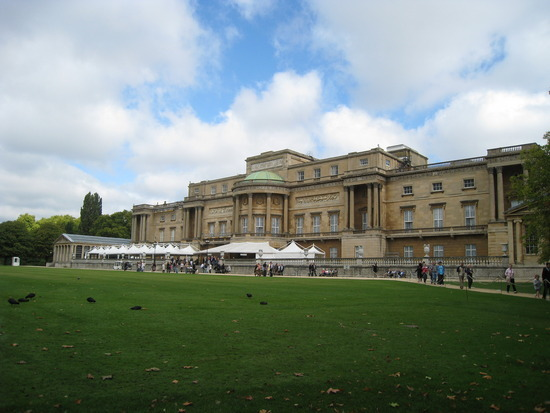 Buckingham Palace from the gardens