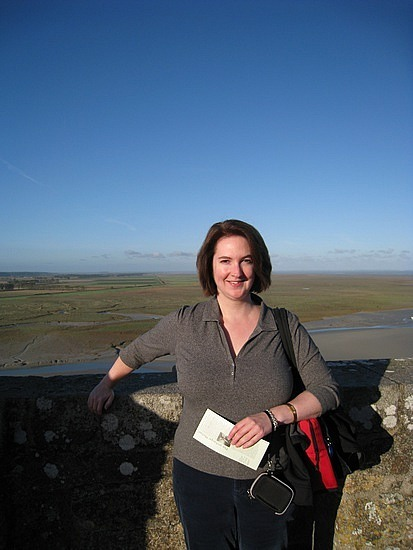 Me on the terrace at the Abbey