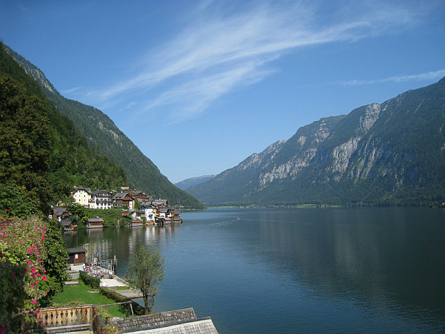 View from our Hallstatt terrace