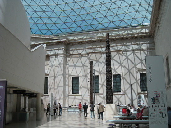 Totems in the Great Court, British Museum