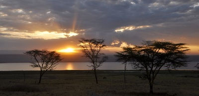 Sunset over Lake Nakuru