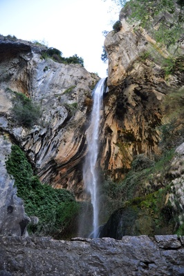 Waterfall on the way to Gourdon