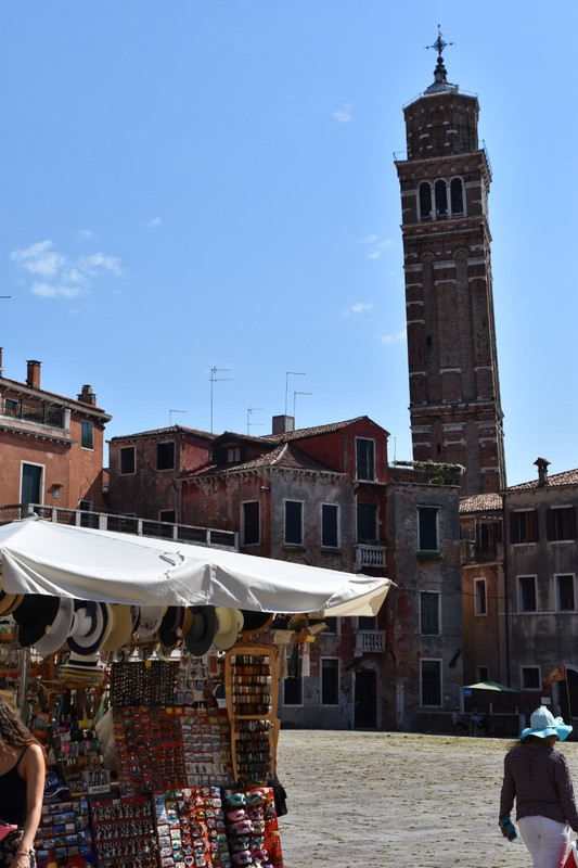 The leaning tower of .... Campanile of Santo Stefano