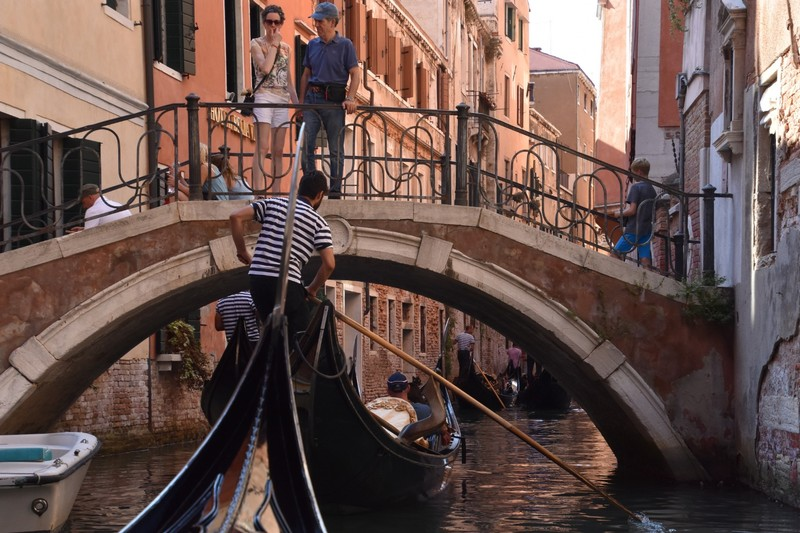 Our intimate Gondola ride (with four of our newest friends)