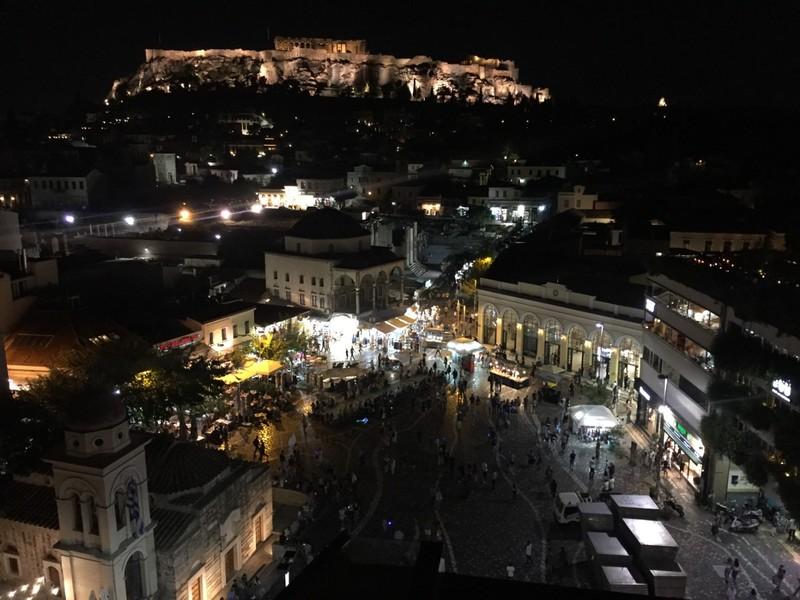 Monastiraki Square by night