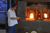 Glass making at Ferro & Lazzarini