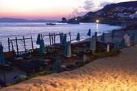 Sunset over beaches