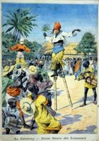 Cartoon Satire that Combines Congo & Stilt Walking Themes