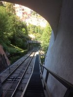 Funicular Railway in Graz up the Schlossberg